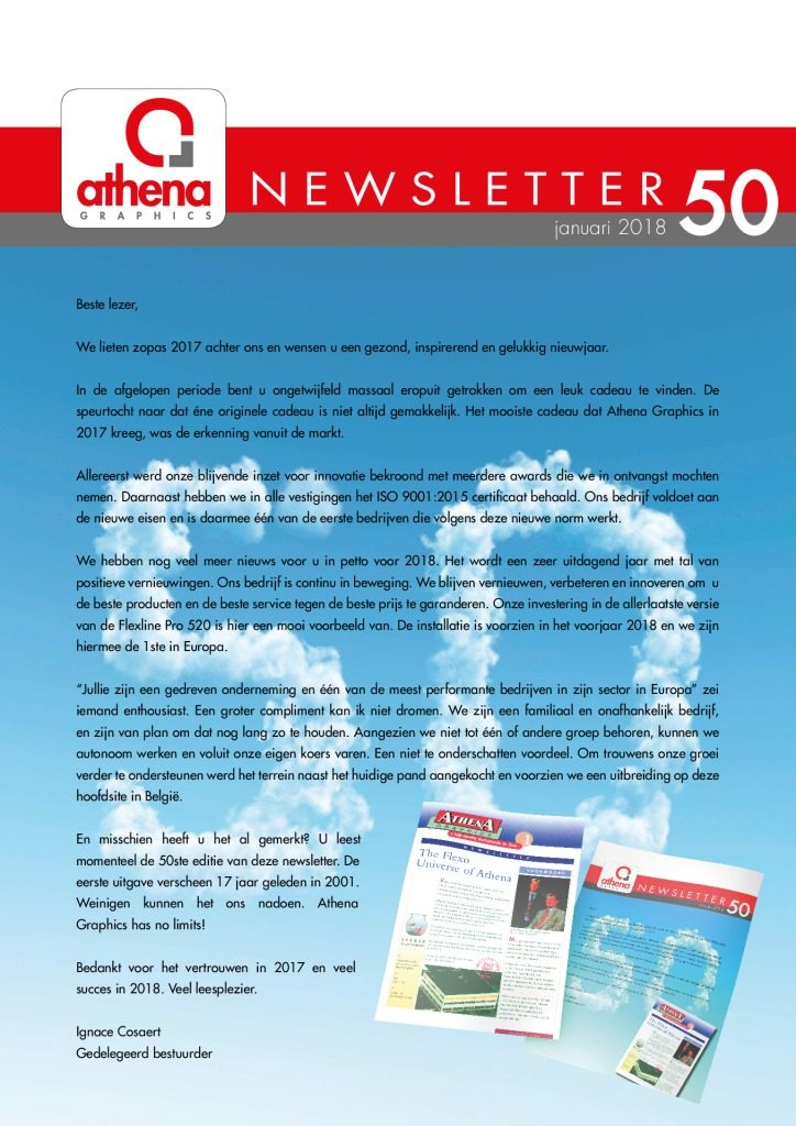 thumbnail of Newsletter 50 NL website
